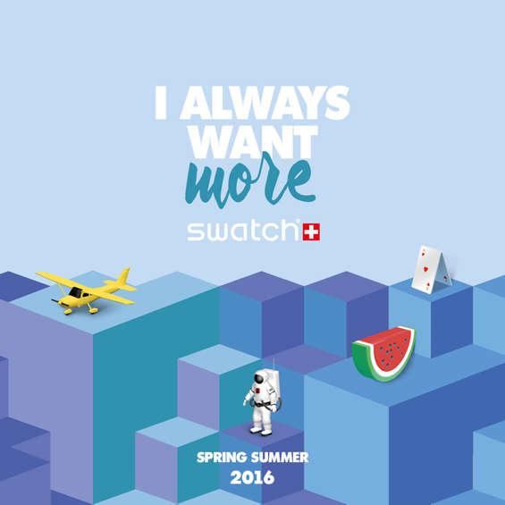 Ofertas de Swatch, I always want more