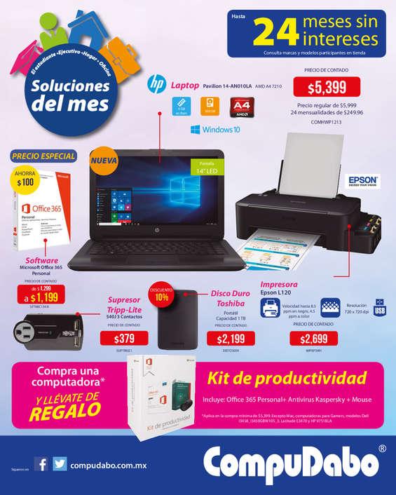 Ofertas de CompuDabo, Soluciones del mes