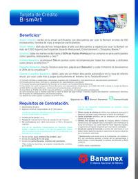 Tarjeta de crédito B smart