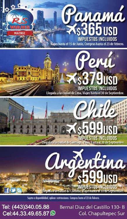 Ofertas de RS Viajes, Promociones