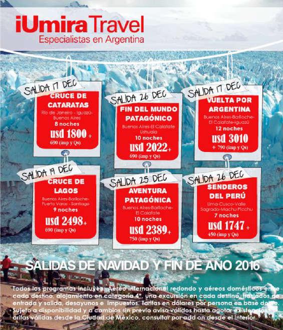 Ofertas de IUmira Travel, Salidas de Navidad y Fin de Año