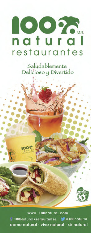 Ofertas de 100% Natural, Menú Fast Food