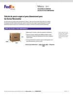Ofertas de Fedex, Servicios y tarifas 2017