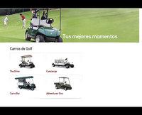 Carros de Golf gas y eléctrico