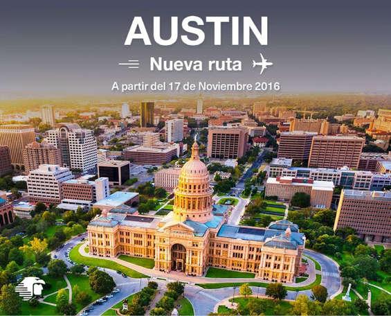 Ofertas de Aeromexico, Austin- Nueva Ruta