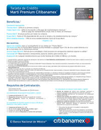 Tarjeta de crédito Martí premium