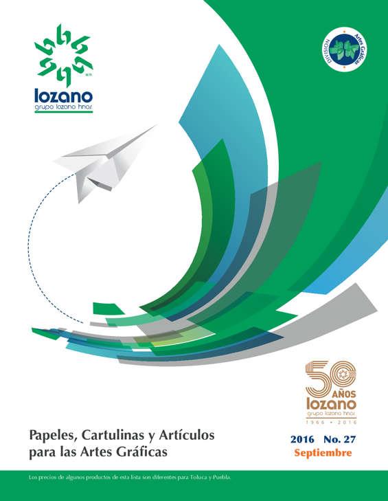 Ofertas de Lozano, Papeles, cartulinas y articulos para las artes gráficas