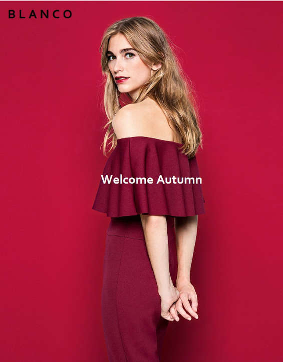 Ofertas de Blanco, Welcome Autumn