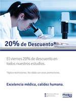 Ofertas de Laboratorio Médica Sur, Precio Especial *no aplica para sucursal Tlalpan