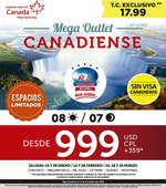 Ofertas de RS Viajes, Mega Outlet Canadiense