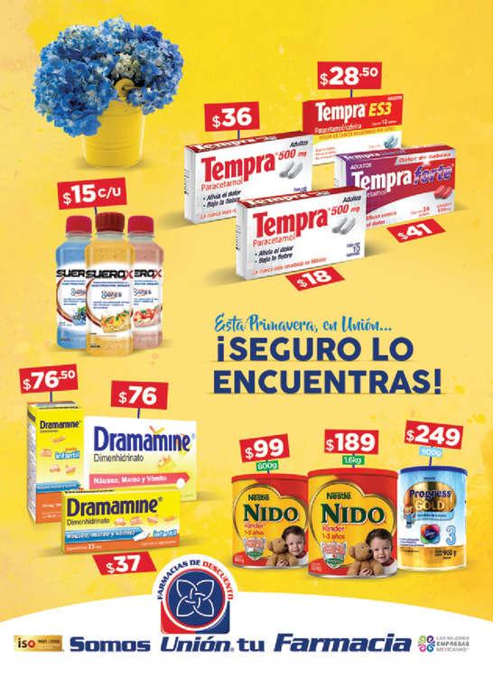 Ofertas de Farmacias Unión, Folleto marzo