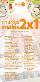 Martes Makis 2x1