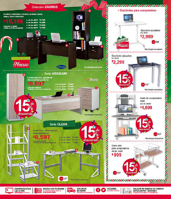 Ofertas de Office Depot, Folleto Diciembre