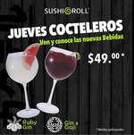 Ofertas de Sushi Roll, Jueves Cocteleros