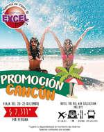 Ofertas de Excel Tours, Promoción Cancún 20-23 diciembre