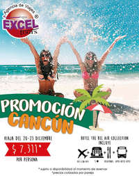 Promoción Cancún 20-23 diciembre
