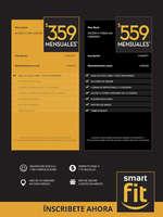 Ofertas de Smart Fit, A partir de $359 mensuales