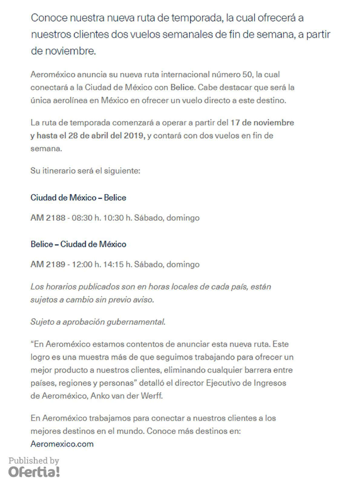 Tiendas Aeromexico - Horarios 62e5a8b941f