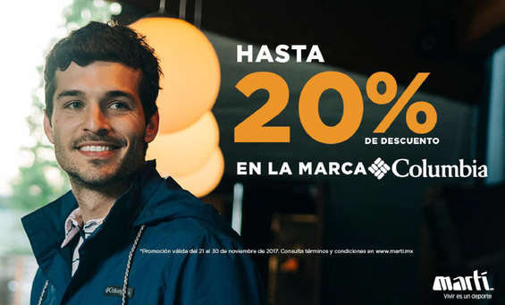 Ofertas de Marti, 20% Columbia