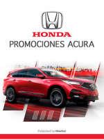 Ofertas de Honda, Honda promociones acura