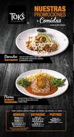 Ofertas de Toks Restaurante, Menú Comidas
