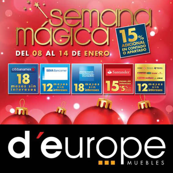 D 39 europe ofertas cat logos y folletos ofertia for Muebles europa confort sa