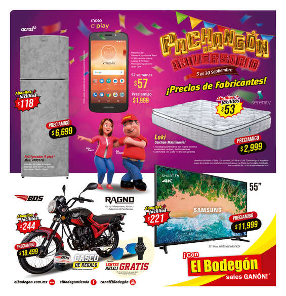 Ofertas de El Bodegón, Pachangon de aniversario