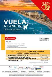 Vuela a Cancún