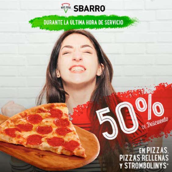Ofertas de Sbarro, 50% de descuento
