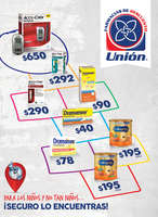 Ofertas de Farmacias Unión, Folleto Abril