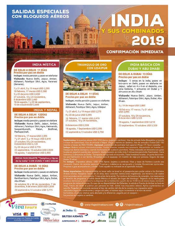 Ofertas de Viva Tours, India y sus colombianos 2019