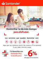 Ofertas de Santander, Domicilia tus pagos