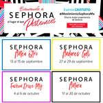 Ofertas de Sephora, Eventos de Septiembre y Octubre