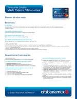 Ofertas de Citibanamex, Tarjeta de crédito Martí Clásica Citibanamex