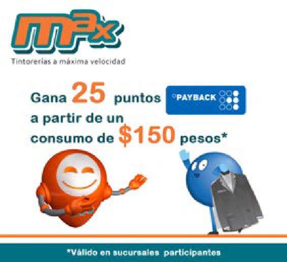 Ofertas de Tintorerías Max, Payback