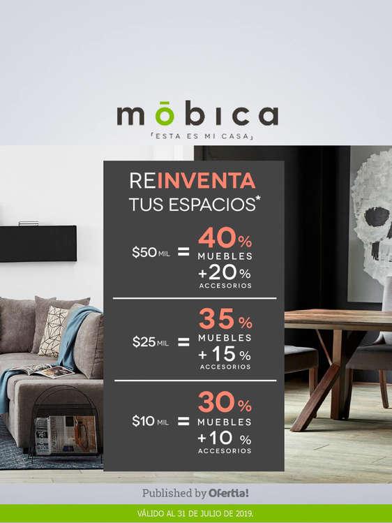 Ofertas de Mobica, Reinventa tus espacios