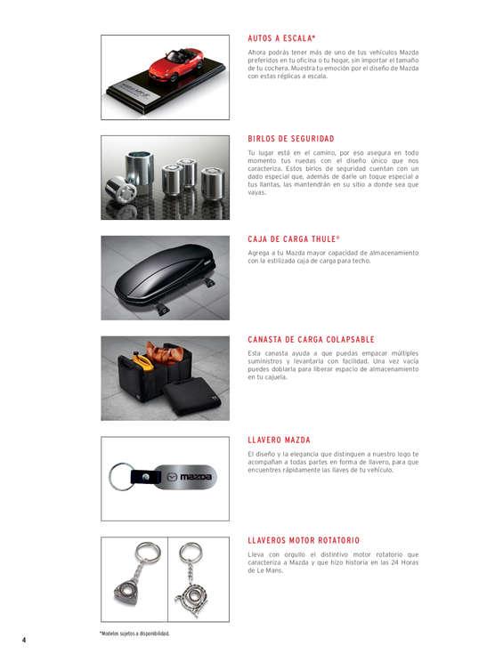 Ofertas de Mazda, booklet de accesorios