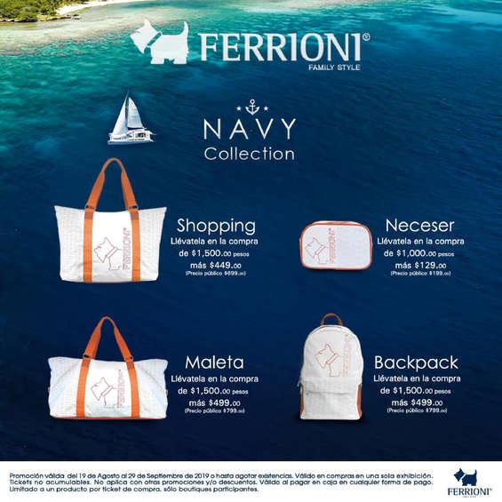 Ofertas de Ferrioni, Navy Collection