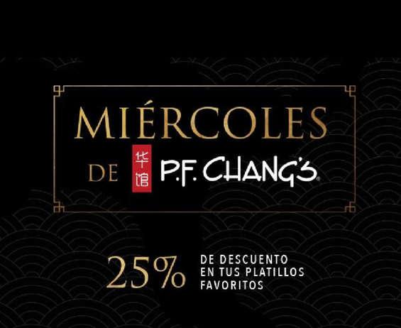 Ofertas de PF Chang's, Miércoles de PF Changs
