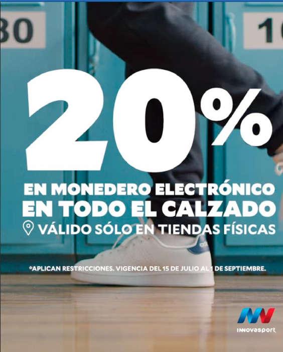Ofertas de Innovasport, 20% en monedero electrónico