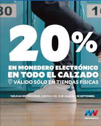 20% en monedero electrónico