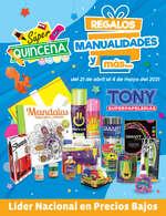 Ofertas de Tony Super Papelerías, Quincena regalos, manualidades y mas..