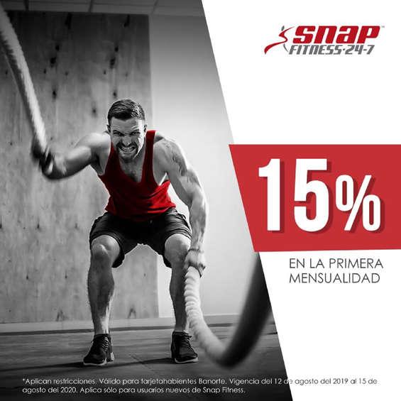 Ofertas de Snap Fitness, 15% de descuento