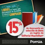 Ofertas de Librería Porrúa, 15% de descuento en libros de inglés