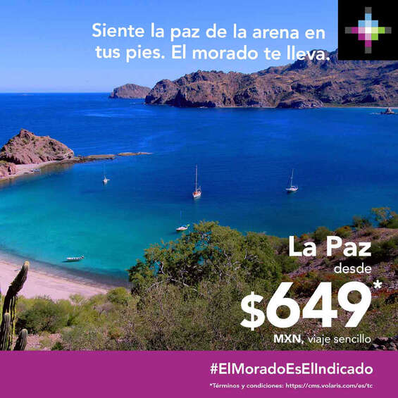 Ofertas de Volaris, La Paz desde $649