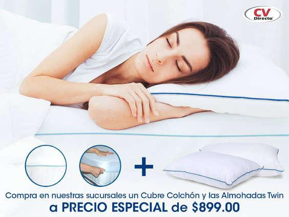 Ofertas de CV Directo, Cubre colchón + almohadas