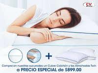 Cubre colchón + almohadas