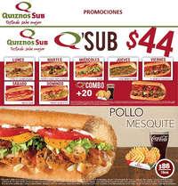 Promociones quiznos sub