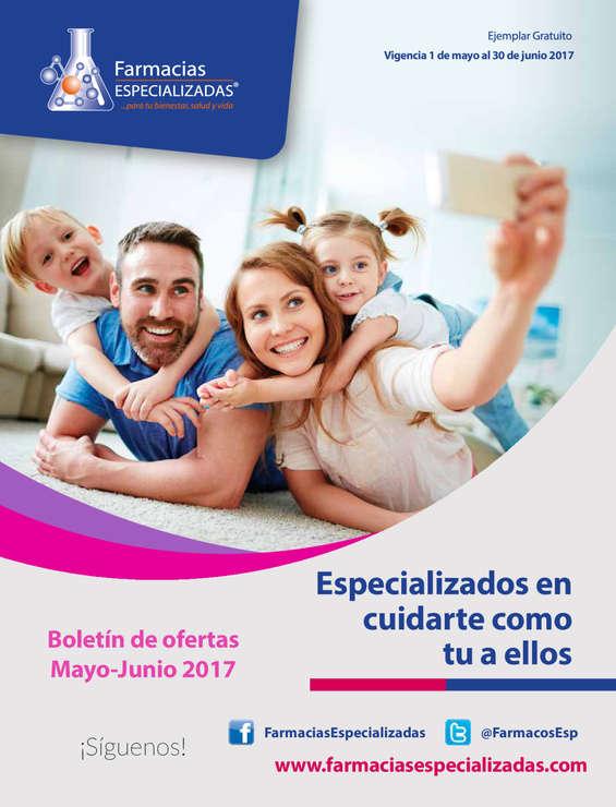 Ofertas de Farmacias Especializadas, Boletin mayo junio 2017