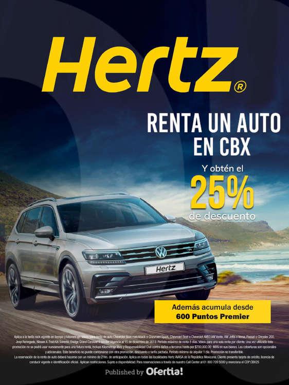 Ofertas de Hertz, Obtén 25% de descuento